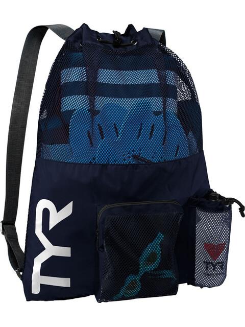 TYR Big Mesh Mummy Plecak pływacki niebieski